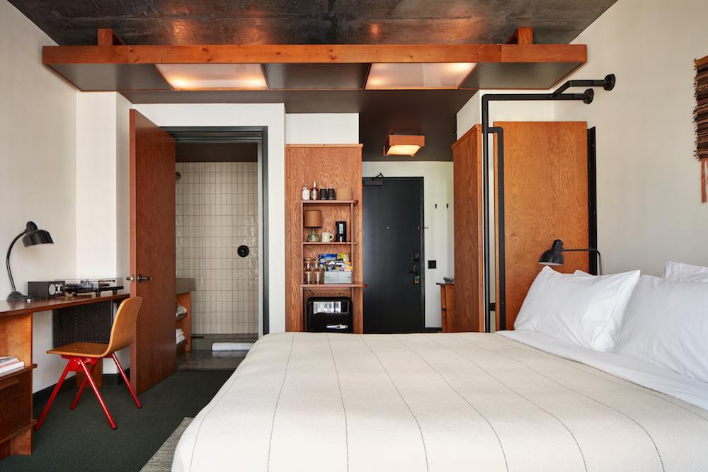 Guestroom inside Ace Hotel Brooklyn