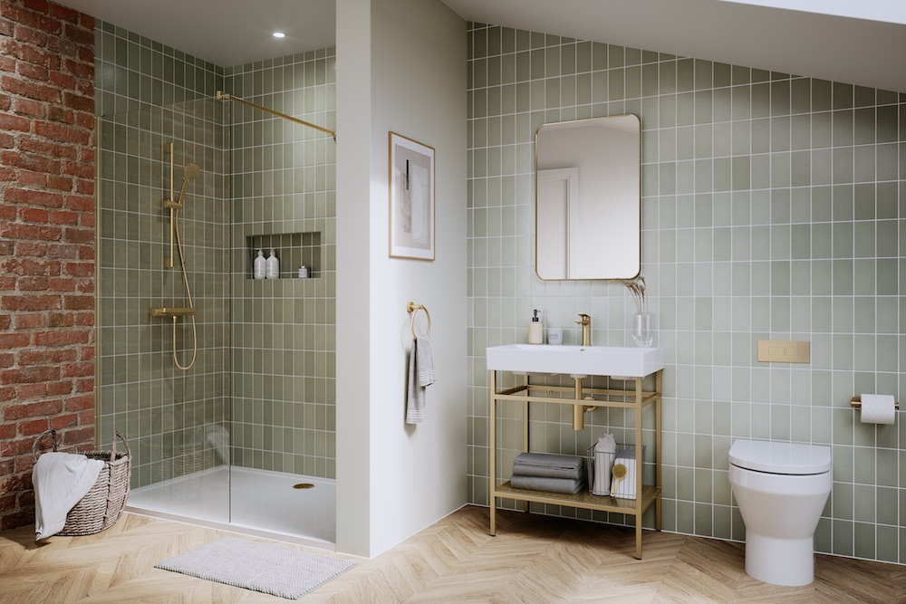Modern bathroom with colour and personality