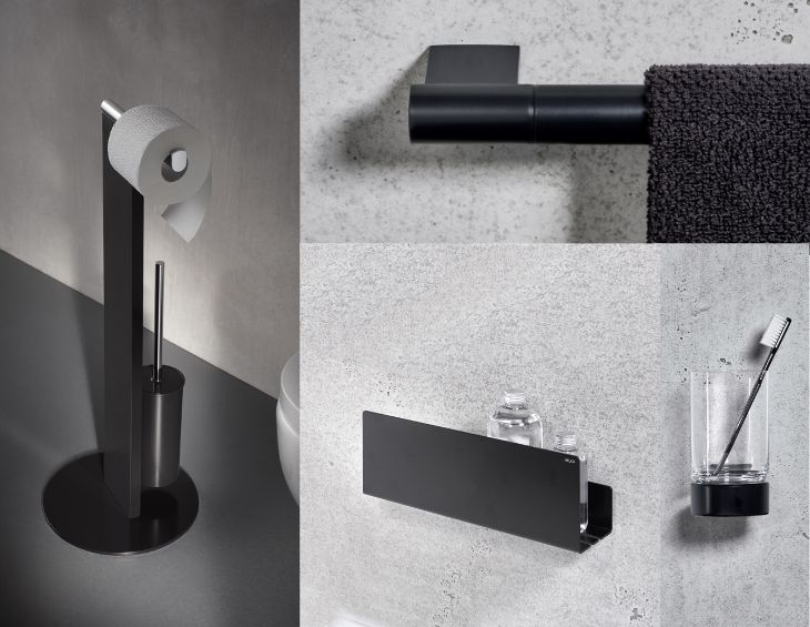 Bathroom black accessories