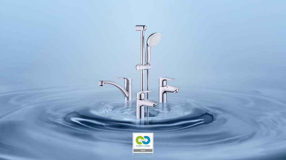 Image caption: A visual of GROHE's Cradle to Cradle