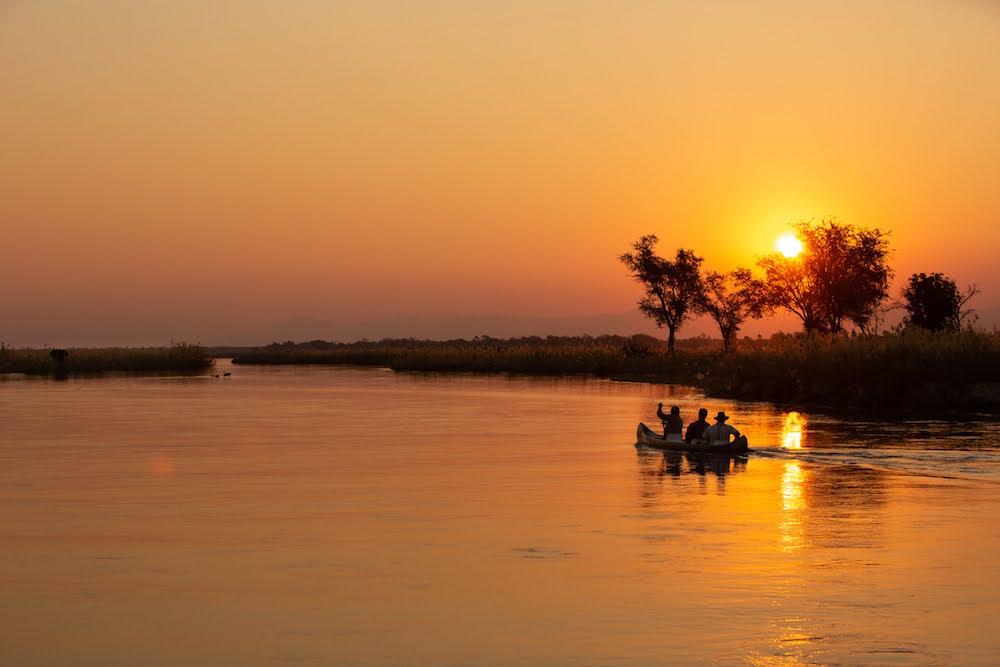 Quiet river in Zimbabwe