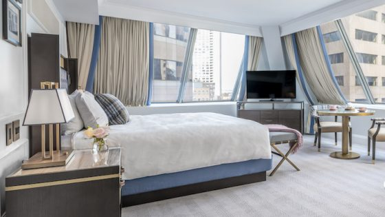 luxe suite inside Langham Boston