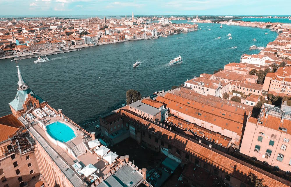 Arial view of Hilton Venice
