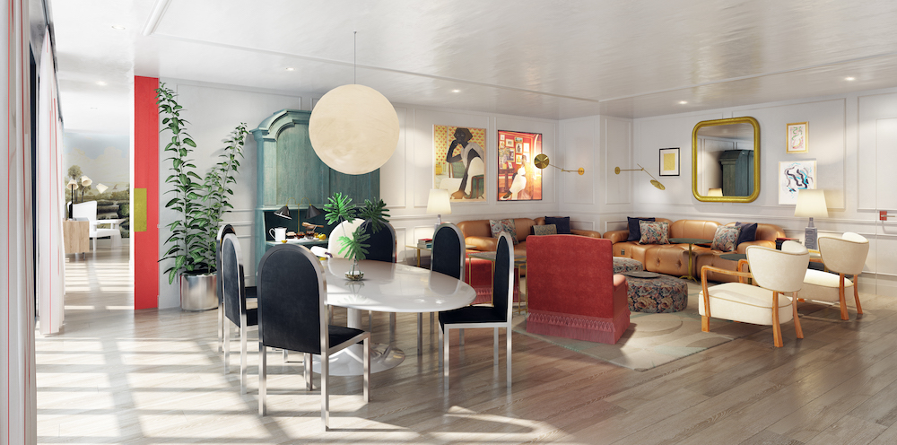 Image of contemporary suite at Virgin Hotels