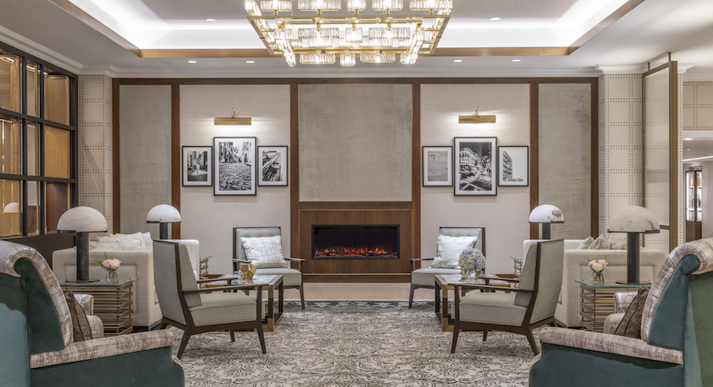 Image caption: Sitting area in the lobby. | Image credit: Langham Hotels