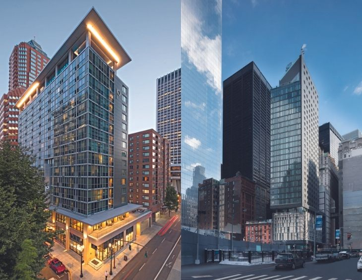 Two buildings owned by Union Investments