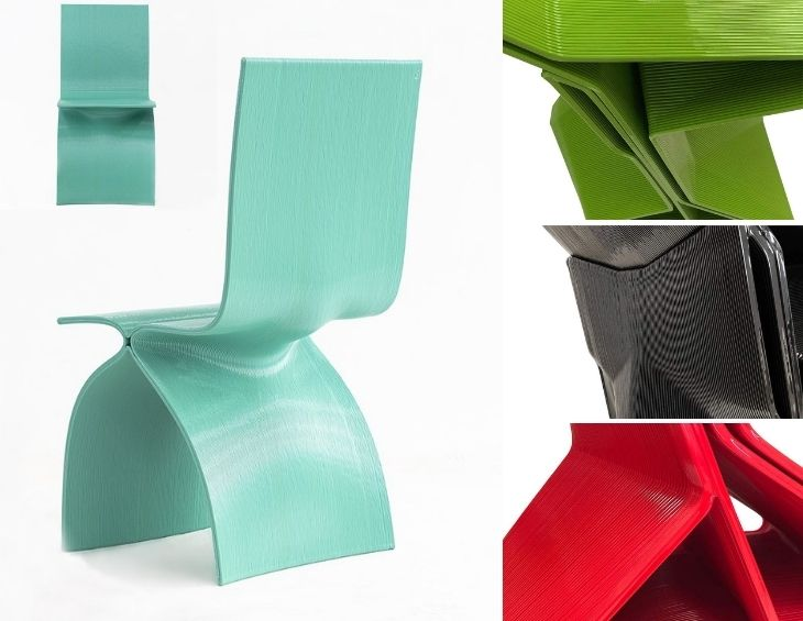 Collection of 3D-printed chairs