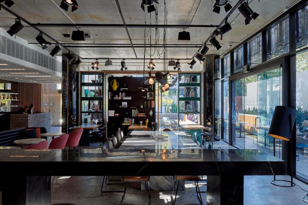 A co-working space inside TRIBE hotel