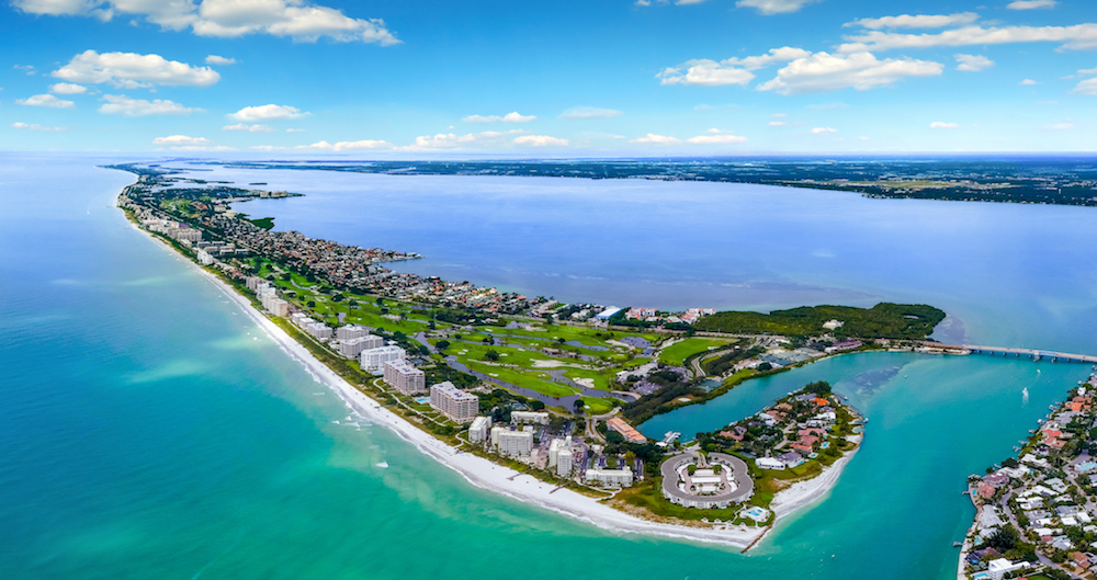Arial view of site where The St Regis Longboat Key will be