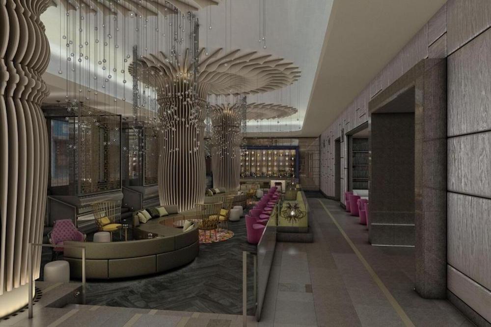 Render of lobby/lounge at W Philadelphia