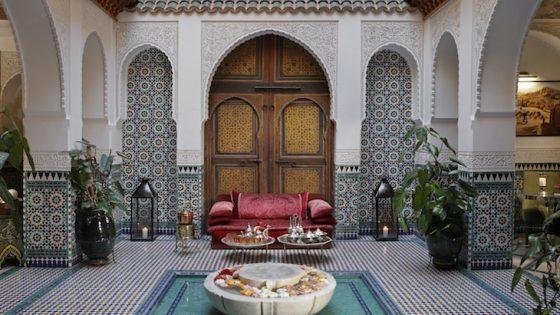 Lobby inside Riad Elegancia