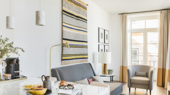 A large suite in Lisbon that is airy and has breakfast on the side