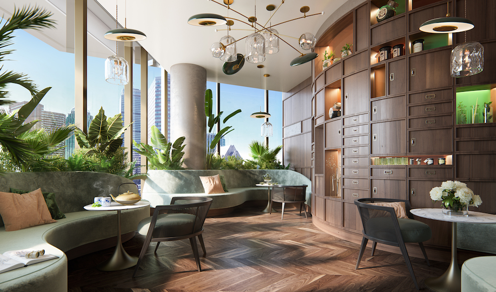 Image caption: Interior sneak peek inside Raffles Boston Back Bay Hotel & Residences. | Image credit: Rockwell Group
