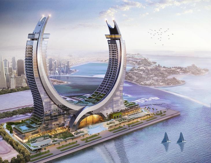 Raffles Doha - aerial