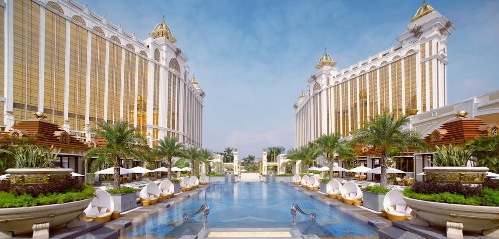 Image caption: Exterior render of Raffles at Galaxy Macau