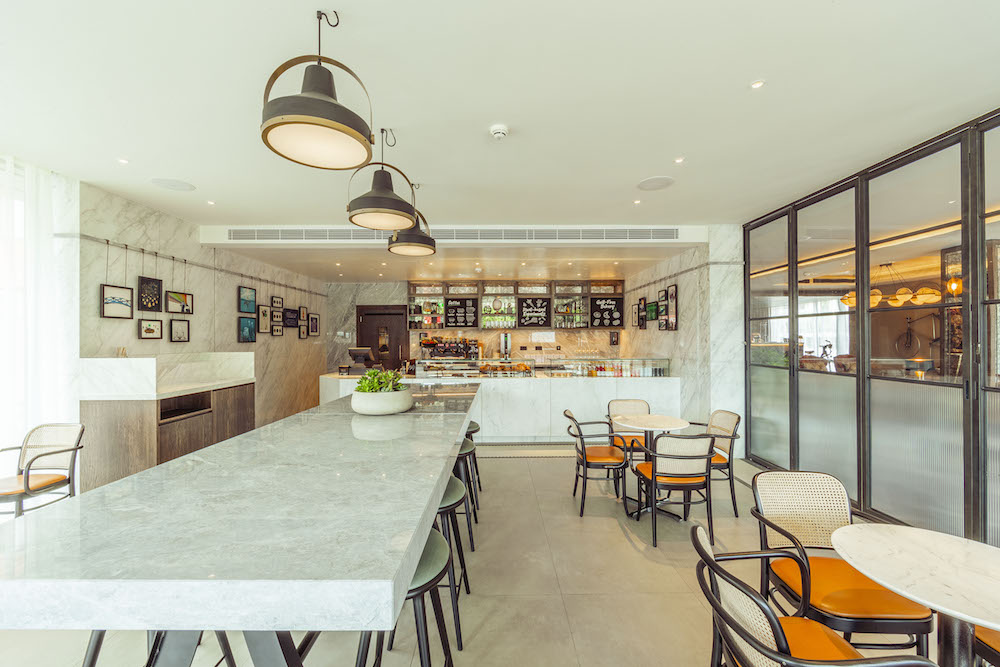 Image caption: The Sage Cafe, with a separate entrance at the front of the hotel, is a light, bright and relaxing place where I sat for hours catching up on my emails. | Image credit: The Fellows House
