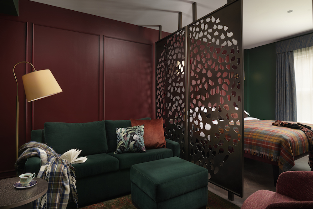 Image caption: To utilise space, while creating boundaries, the team have designed privacy screens to discreetly and stylishly create soft boundaries within the Club Flats. | Image credit: The Other House