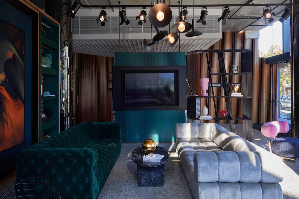 A lounge of TRIBE Perth