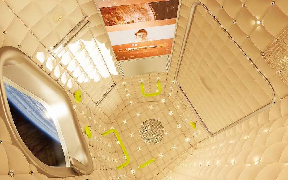 The Axiom space station hotel - interior design