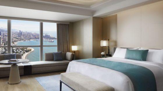 Guestroom in qingdao overlooking ocean