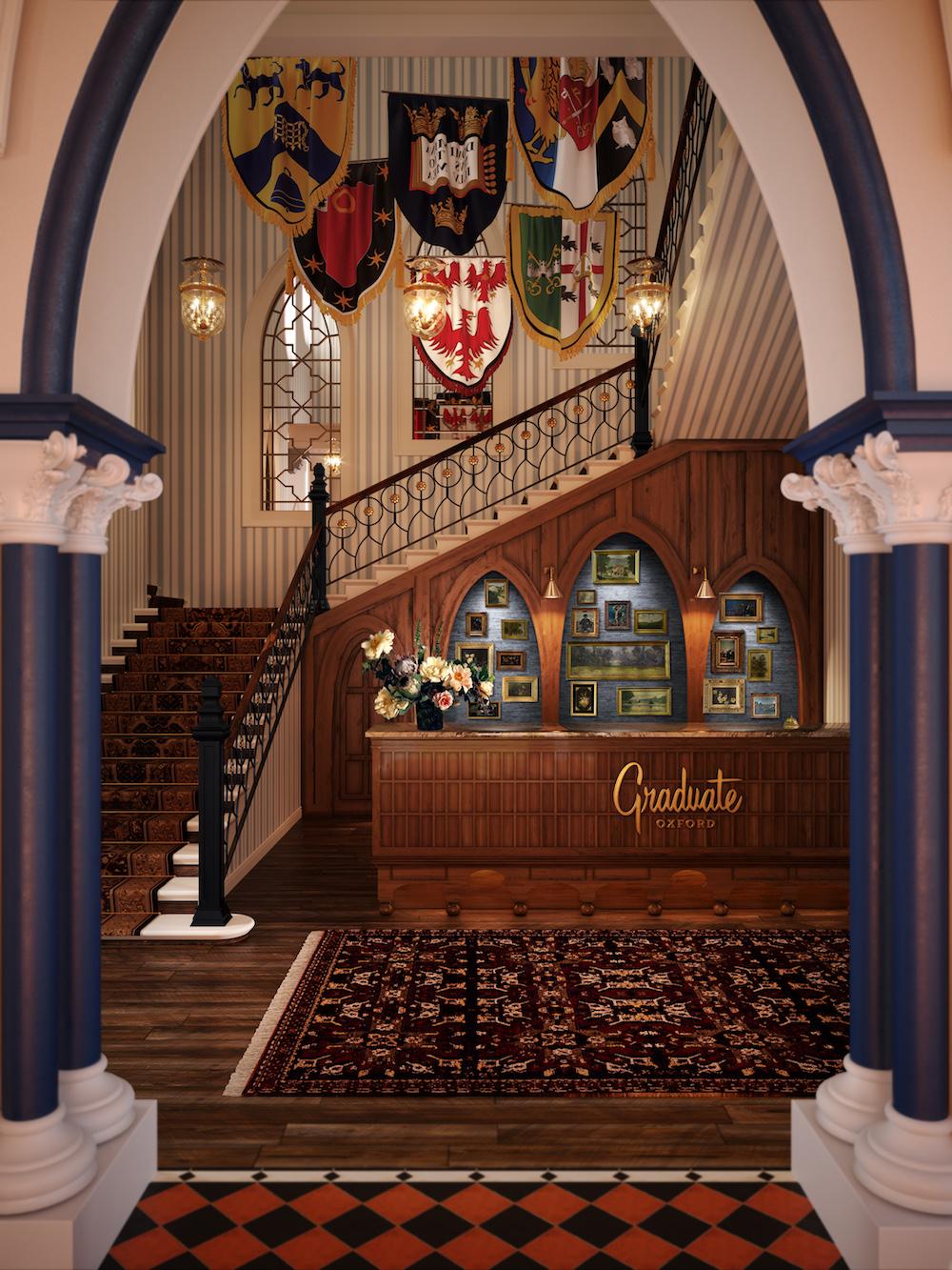 Lobby inside Graduate Hotels