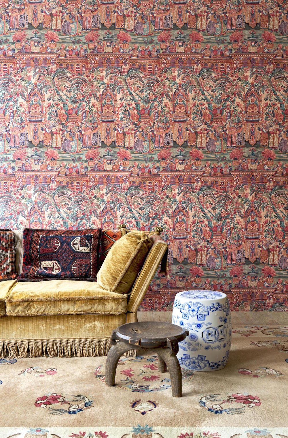 An intricate, maximalist wallcovering