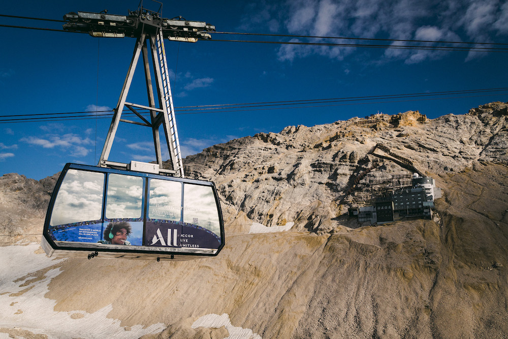 A cable car on mountain