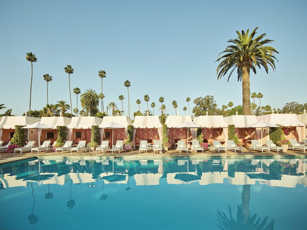Beverly Hills Hotel Cabana and Pool