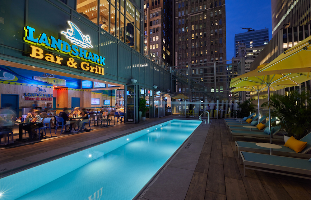 Rooftop pool in New York