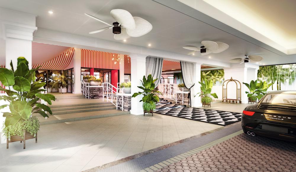 Hotel design | Porto Cochere at PGA hotel in Palm Springs