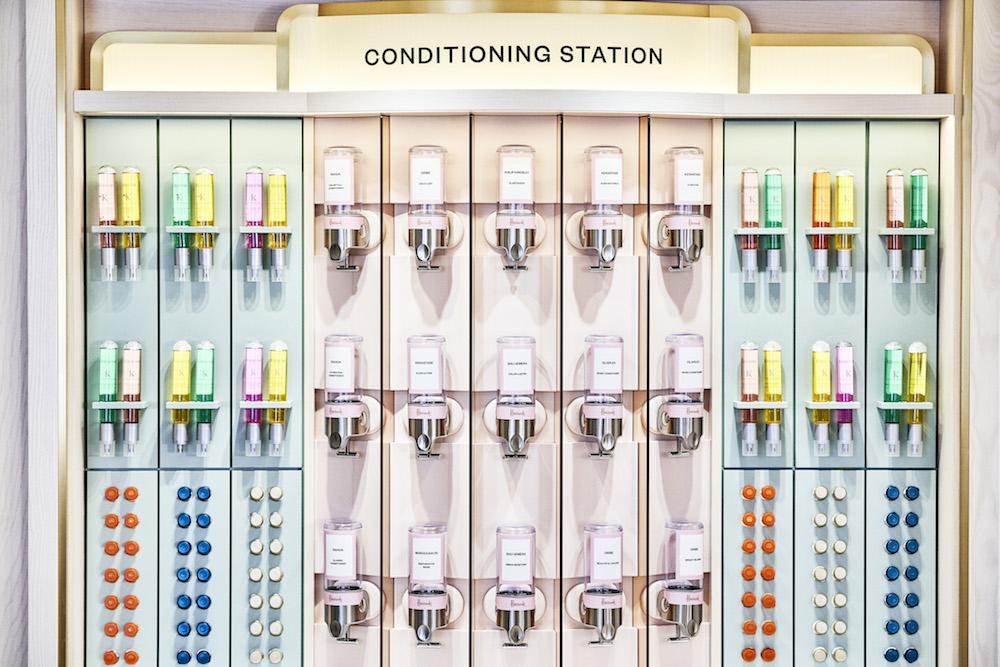 Harrods new Hair & Beauty Salon - Conditioning Station