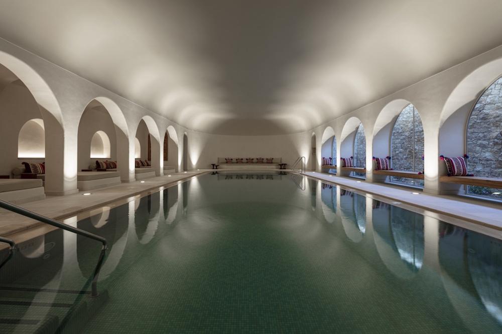 indoor pool at six senses