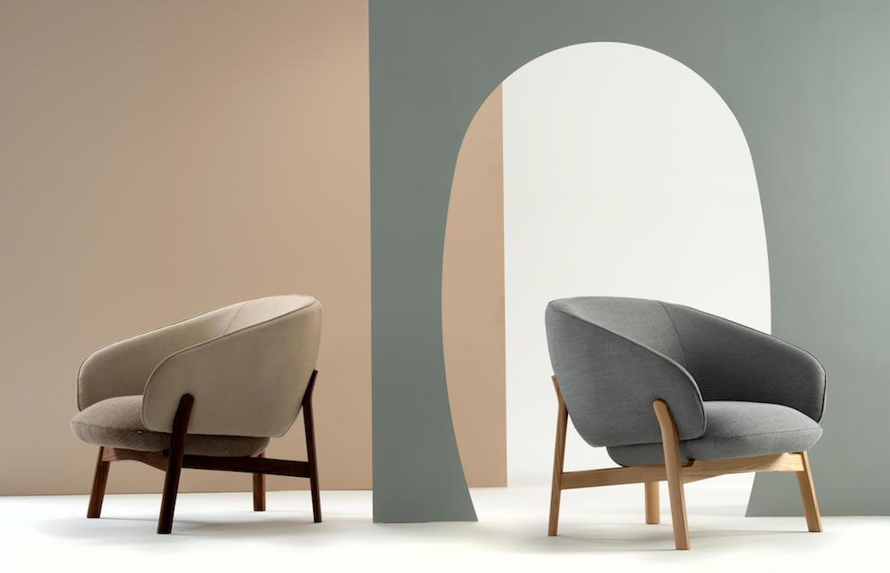 Two armchairs in the new Lugano furniture collection