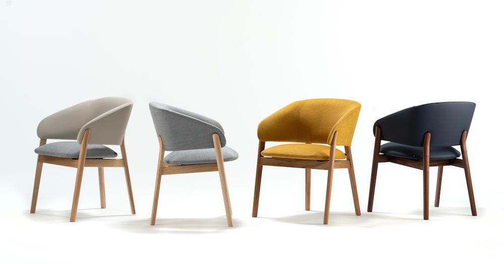 Four armchair furniture pieces in the new collection