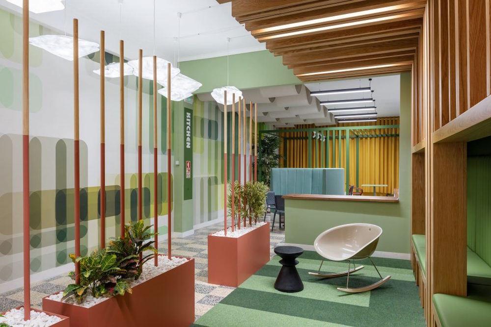 Image caption: Newmor Designer wallcoverings at RB Pharma, Lisbon. | Image credit: Newmor