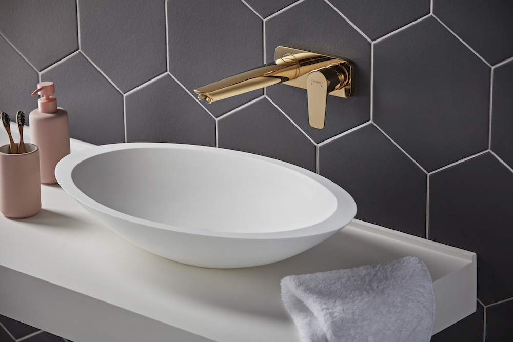 Gold tap from Hansgrohe