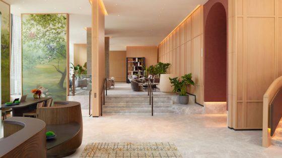 The lobby inside Pan Pacific London