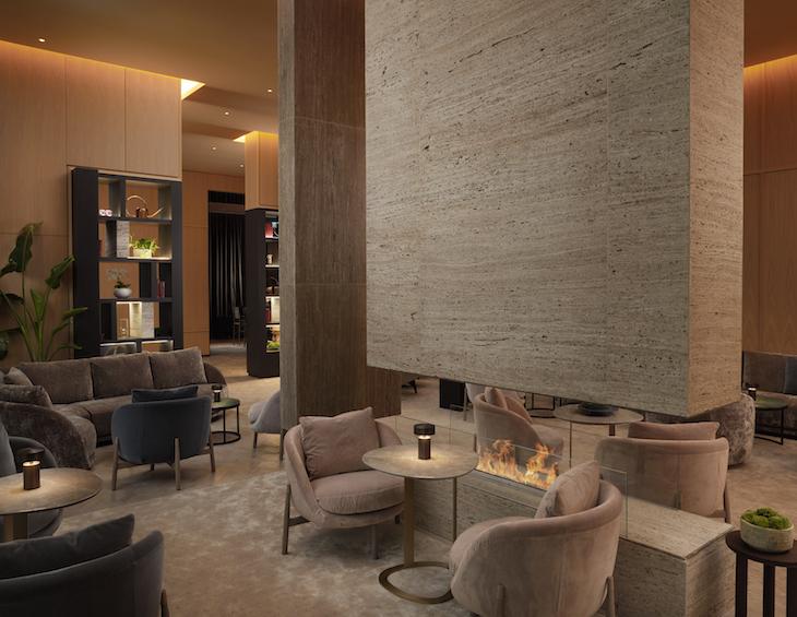 Lobby/lounge inside Pan Pacific London