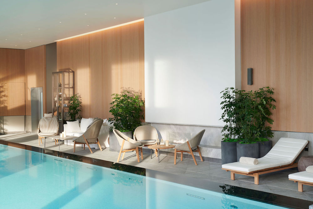 Pool inside Pan Pacific London