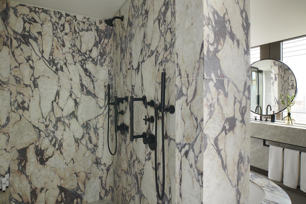 Bathroom inside Pan Pacific London