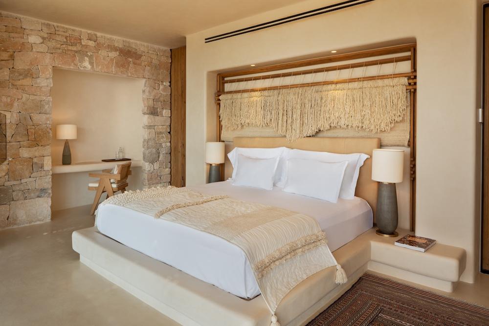 a soft cream interior scheme inside guestroom
