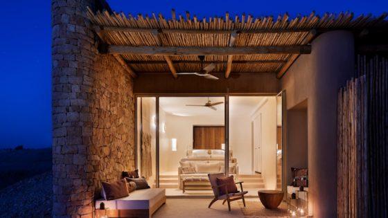 Panorama suite at Six Senses in the desert