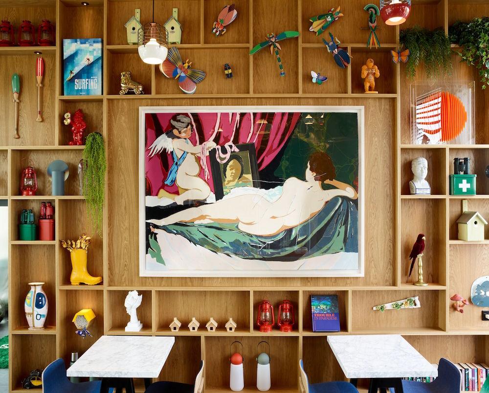 Art shelf in citizenM