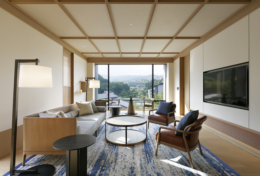 Image caption: The guestrooms and suites Infuse both traditional Kyoto design and modern Japanese aesthetic in calming earthy tones. | Image credit: LXR Hotels