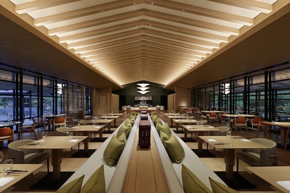 Image caption: The restaurant, where Japanese design meets French cuisine. | Image credit: LXR Hotels