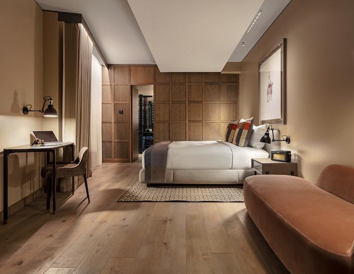 Image of a guestroom inside The Londoner
