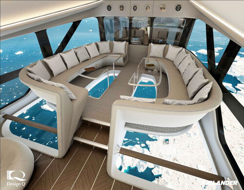 Render of a superyacht in the sky public areas