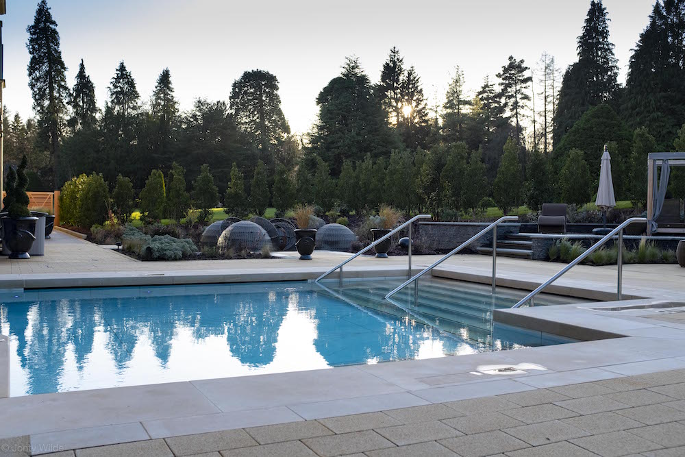 Grantley Hall - outside pool