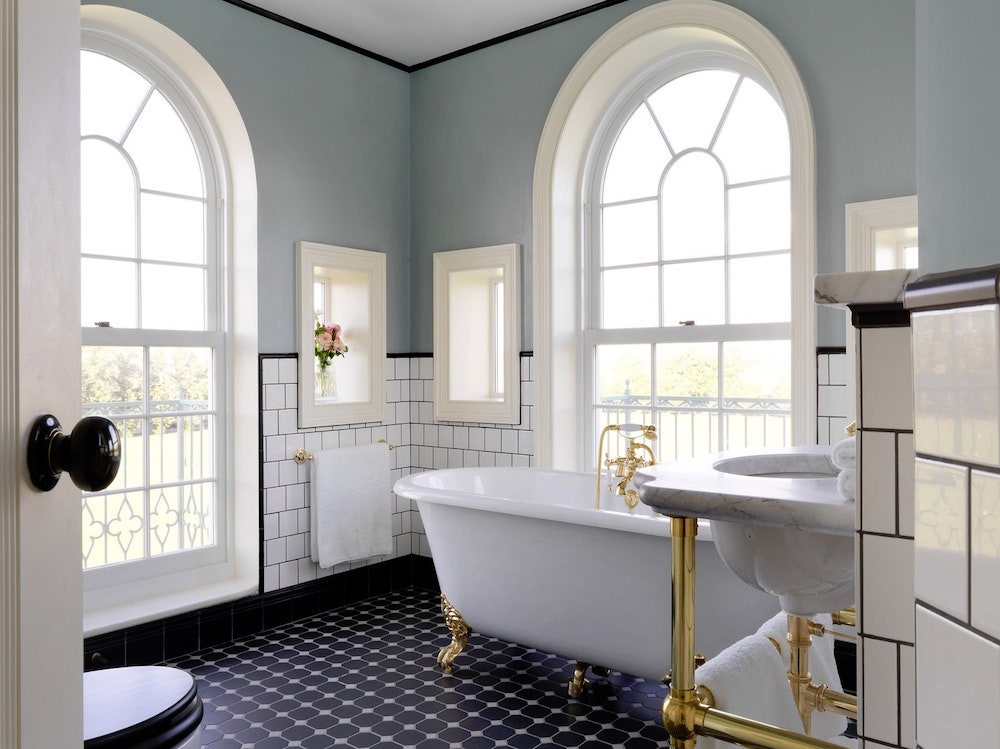 Image caption: The bathrooms inside University Arms, designed by MBDS (specified by Utopia Projects). | Image credit: University Arms