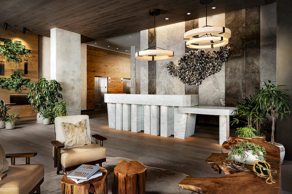 1 Hotel Toronto lobby - with a sustainable design scheme